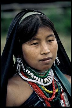 A colorful lady from one of the colorful tribes of east Burma ( Myanmar)