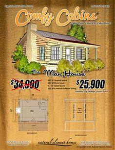 The Man House | Big Little Log Cabin Sale | Natural Element Homes