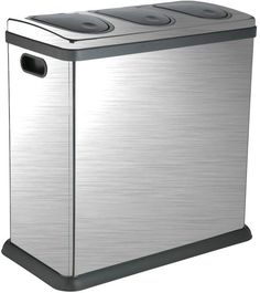 Trio 60 Litre Brushed Stainless Steel Kitchen Recycling Bin Wish This Was Available In The Us