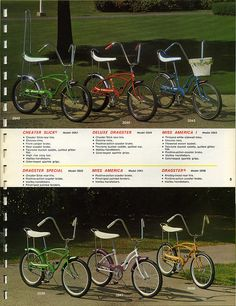 The blue Huffy bike was mine.  I loved that bike!  My parents added streamers on the handle bars and a bell.
