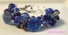 An Ocean of Blue Multilayer Glass Beaded by 5KatzKreations on Etsy, $25.00