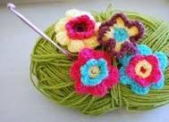 crochet flowers in a pot - Google Search