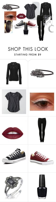 """""""Untitled #152"""" by fredweasleygirl ❤ liked on Polyvore featuring BKE, Anthropologie, American Eagle Outfitters, MM6 Maison Margiela, Converse, OPI and ChloBo"""