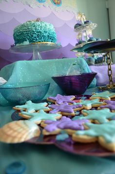 BACKDROP for smash cake pictures mermaid birthday party
