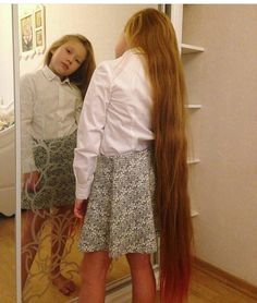 My blonde hair was this long when i was her age