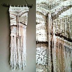 Last one for today, im on a #weaving streak! #wanderlust #wanderlustweaving #lace #doily #doilylife #weavewednesday #weaverfever #weaveweird #handmadewithlove #homedecorating #bohemian #boho #hippie #neutral #iloveweaving