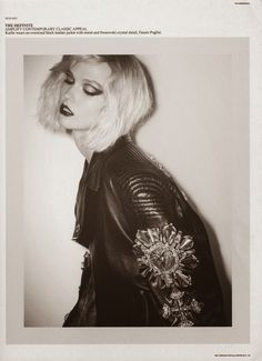 Karlie Kloss channeling Debbie Harry for Self Service Magazine #leatherforever #leathericons #editorial