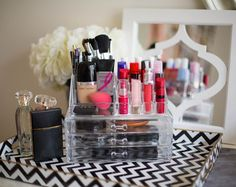 Formas no convencionales para almacenar su maquillaje - Belleza Organización del producto - Seventeen