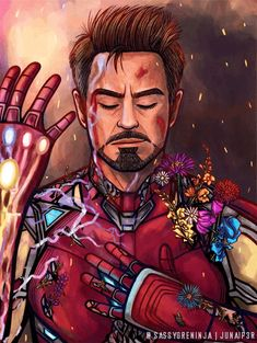 "Iron Man"" - Tony Stark / We love you 3000 / Avengers: Endgame / Iron Man Fan Art Marvel Dc Comics, Marvel Avengers, Marvel Fanart, Marvel Memes, Captain Marvel, Captain America, Stony Avengers, Avengers Fan Art, Iron Man Kunst"