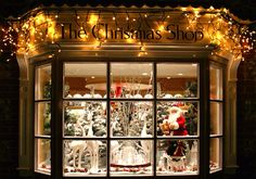 A fanciful window display. I like it                    A fanciful window display. Very festive!