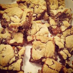 chocolate chip salted caramel bars