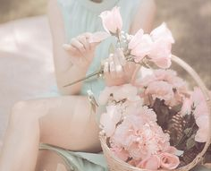 muted pinks and blues, it sings of spring