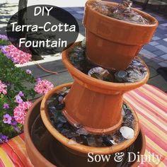 DIY Terra-Cotta Foun