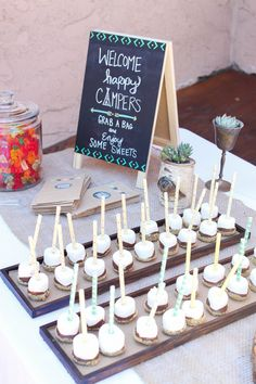 Navajo Theme. Arrows. Candy Buffet. S'more pops. Succulents.  Photo Credit: Cori Kleckner Photography