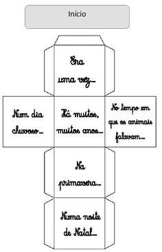 Cubo mil histórias- Marisa Gonçalves | Atividades Pedagogica Suzano Writing Activities, Educational Activities, Story Cubes, Portuguese Language, Children, Kids, Psychology, Homeschool, Teacher