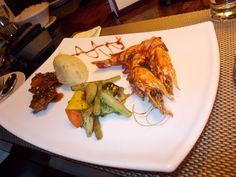 Surf 'n Turf, which was grilled Lamb & Prawns @The Grill & Curry Bowl,Bangalore