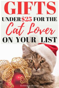Gifts Under $25 for the Cat Lover on your list this year!