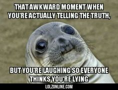 That Awkward Moment When You're Actually… #lol