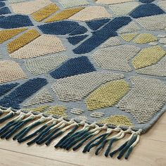 hand-knotted stained glass rug 5'x8'. | CB2