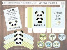 KIT IMPRIMIBLE PANDA BEAR PRINTABLE KIT CANDY BAR