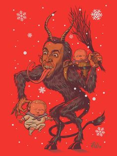 This depiction of Nicolas Cage as Krampus. | 17 Nicolas Cage-Inspired Items You Deserve To Own