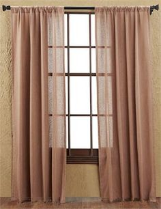 Tobacco Cloth Solid Curtains (pair)