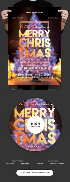 Christmas Party Flyer  — PSD Template #print ready #concert • Download ➝ https://graphicriver.net/item/christmas-party-flyer/18417125?ref=pxcr