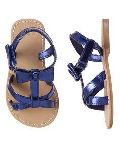 Metallic Bow Sandals at Gymboree (Gymboree 6m-5T)