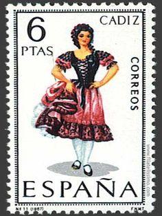 Spain Stamp - Regional costume Cádiz
