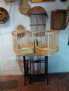 Nico, el artesano de mimbre, anea, rejilla, cuerda y caña: Cestas de mimbre natural para barras de pan