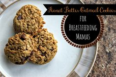 Peanut Butter Oatmeal Lactation Cookies for Breastfeeding Mamas