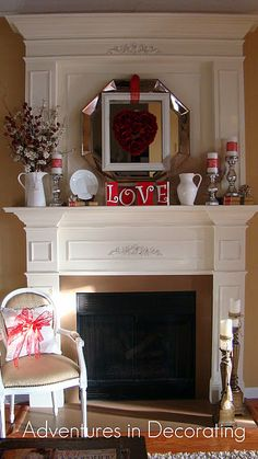 Love is a many splendor-ed valentine mantel