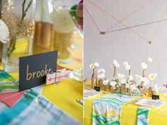 Citrus Geometric Wedding Ideas