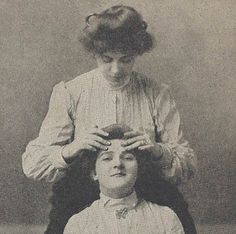 Head and face massage are great for stress and sinus/allergy pressure. vintage massage illustrations