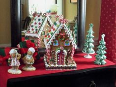 Gingerbread houses by Valerie Parr Hill - QVC