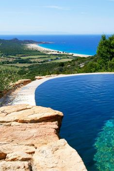 Luxury hotel in Magnificent beach-fringed private estate and working farm on the southern tip of Corsica. Sixteen restored stone cottages sleep from two to Have A Great Vacation, Great Vacations, Corsica, Pool Picture, Stone Cottages, Best Travel Deals, Hotel Pool, Dream Pools, Cool Pools