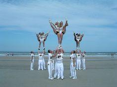 2004 Purdue University Cheer Team American Cheerleader Magazine Photo Shoot at NCA College Nationals Daytona Beach, Florida