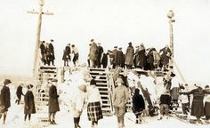 This image shows a toboggan run in Hamilton. People would take their toboggans up the ramp and use it to launch their ride. During the latter and early century there were many such toboggan runs in Hamilton and several active toboggan clubs. Hamilton Ontario Canada, Historical Images, Family First, Local History, Image Shows, Shots, Fair Grounds, Steel, City