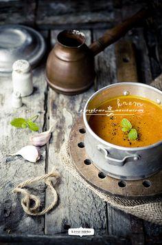 | November | Cream Carrot & Capsicum Soup #Autumn_Recipe
