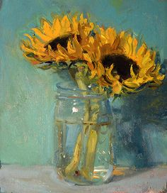 """Sunflowers, 11/1/2015"" by Duane Keiser"