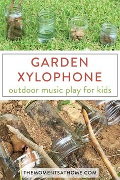 DIY Garden Xylophone Get your kids enjoying the sensory play of dirt, rocks, and sticks while making music with their DIY xylophone musical instrument activity. Rainy Day Activities For Kids, Nature Activities, Outdoor Activities For Kids, Outdoor Learning, Summer Activities, Preschool Activities, Family Activities, Steam Activities, Sensory Garden