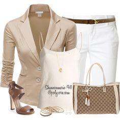 """Bermudas & Blazers"" Classy Outfit Set by shannonmarie-94, via Polyvore."