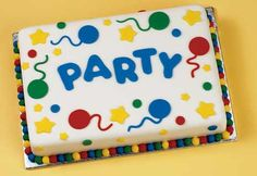 Party Balloons Cake