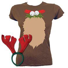 d1c807636ed Women39 s Reindeer Costume T-shirt Brown Grindstore https   www.