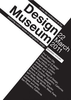 Design Museum Typo Hierarchy Typographic Hierarchy, Typographic Poster, Typography Fonts, Hierarchy Design, Type Posters, Event Posters, Yearbook Design, Grid Layouts, Poster Layout