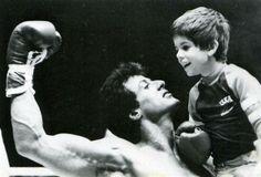 Rocky III - Publicity still of Sylvester Stallone & Sage Stallone Rocky Balboa 2006, Rocky Balboa Poster, Rocky 1976, Rocky 3, Rocky Series, Rocky Film, Tv Series, Sage Stallone, Stallone Rocky