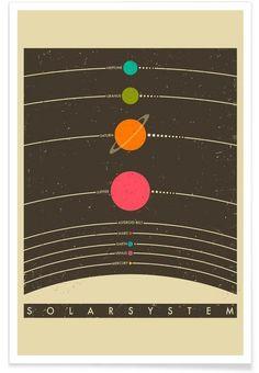 Solar System als Premium Poster
