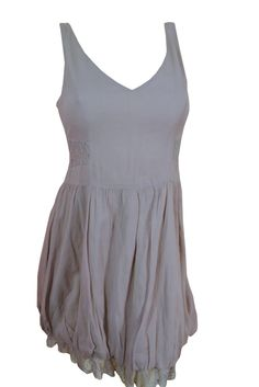 Free People Casual Dress v Neck Gray  Vintage Style  mini dresses  Size 2 #FreePeople #Bubble #Casual