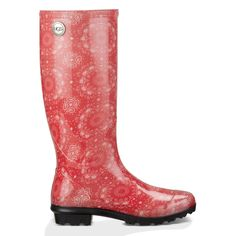 UGG Australia Womens Shaye Bandana Rain Boot