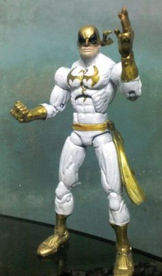 this is a marvel legends New Avengers Iron Fist Custom Action Figure he was made by figure realmer fnwebslinger he used a marvel legends iron fist figure happy pinning